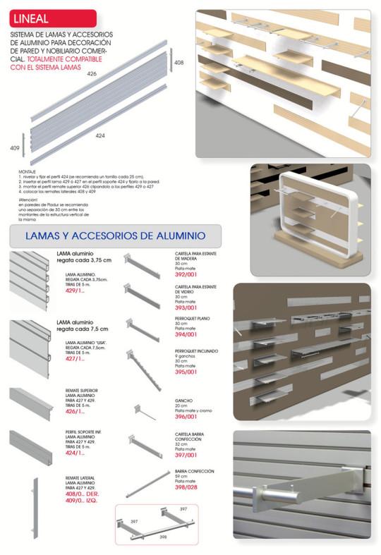 Lamas aluminio